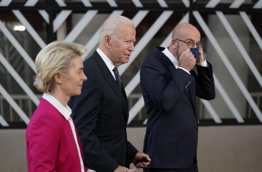 """Σύνοδος Κορυφής ΕΕ-ΗΠΑ: """"Βιώσιμη αποκλιμάκωση στην Ανατολική Μεσόγειο"""""""