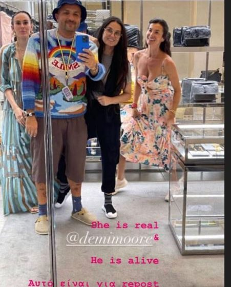 Στην Αθήνα για ψώνια η Ντέμι Μουρ (εικόνες)
