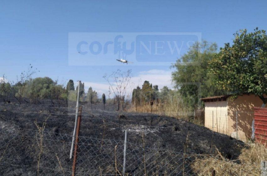 Κέρκυρα: Φωτιά στη Λευκίμμη