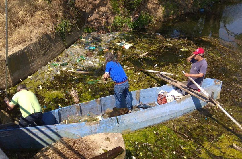 Εθελοντές απομάκρυναν χιλιάδες σκουπίδια από τη λίμνη Δοϊράνης