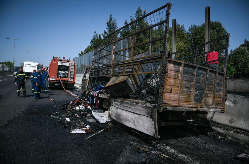 Ανοίγει σταδιακά η Λ. Κηφισού μετά την πυρκαγιά σε φορτηγό
