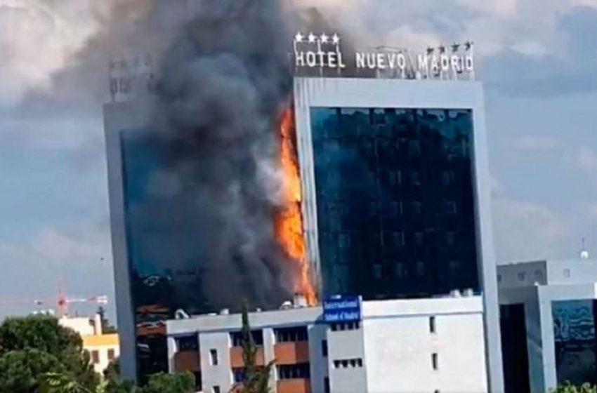 Συναγερμός στη Μαδρίτη – Μεγάλη φωτιά σε ξενοδοχείο (vid)