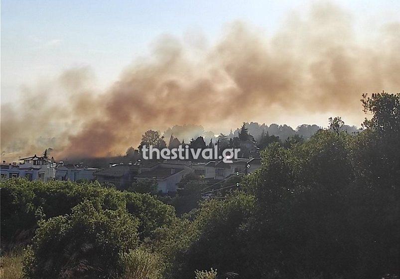 Θεσσαλονίκη: Πυρκαγιά στην Πυλαία – Eντολή για εκκένωση σπιτιών και απομάκρυνση κατοίκων  (vid)