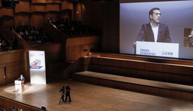LIVE – Χαιρετισμός του Αλέξη Τσίπρα στην Γενική Συνέλευση του ΣΕΒ