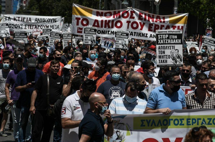 """Βροντερό """"Όχι"""" χιλιάδων εργαζομένων στο εργασιακό νομοσχέδιο – Βίντεο και εικόνες από τα μαζικά συλλαλητήρια και τις δηλώσεις των  πολιτικών αρχηγών"""