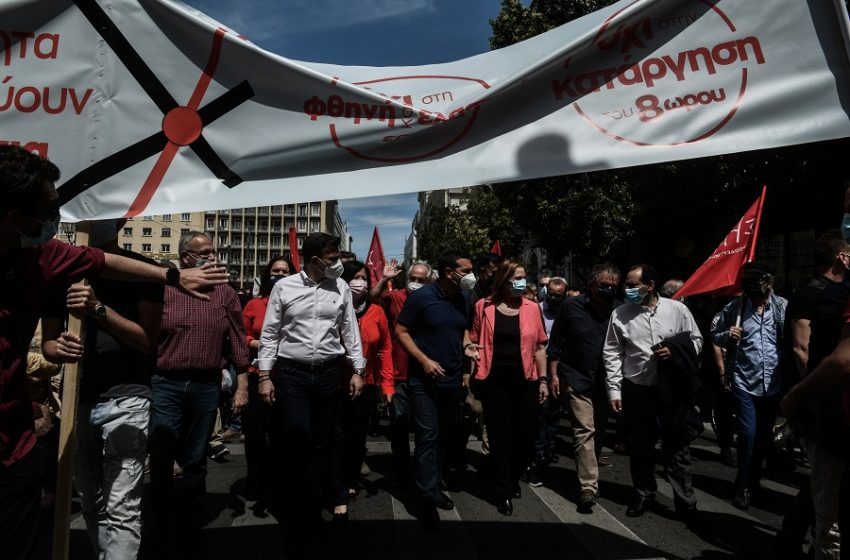 Ανατροπή εργασιακού: H αντιπολίτευση στην απεργία της Πέμπτης – Ο ΣΥΡΙΖΑ… και η έκπληξη με το πανό του ΚΙΝΑΛ