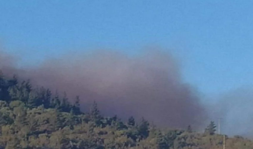 Μέσα σε χωριό η μεγάλη φωτιά στη Χίο – Οι κάτοικοι εγκατέλειψαν τα σπίτια τους
