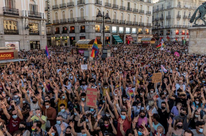 """""""Δικαιοσύνη για τον Σαμουέλ. Ομοφοβία και φασισμός είναι το ίδιο πράγμα"""" – Η δολοφονία του 24χρονου ενώνει την Ισπανία"""