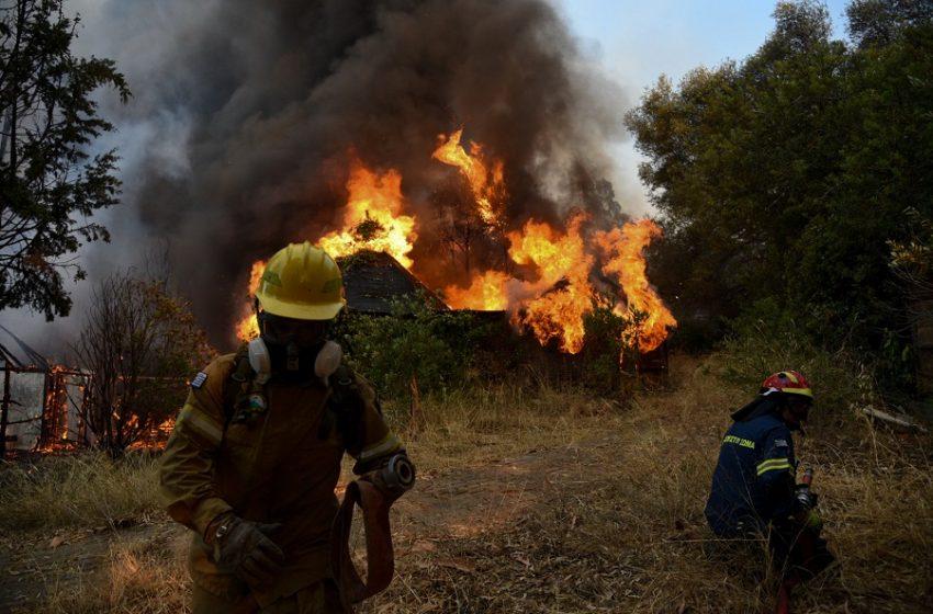 """""""Μάχη"""" με τις φλόγες -Με σκάφη του Λιμενικού απεγκλώβισαν λουόμενους-Εκκενώσεις οικισμών και κατασκήνωσης (pics-vid)"""