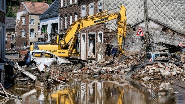"""""""Η εικόνα στο Βέλγιο μετά τις πλημμύρες θυμίζει τους βομβαρδισμούς του Β' Παγκοσμίου Πολέμου"""""""