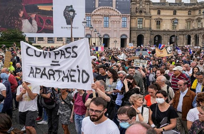 Παρίσι: Ένταση σε διαδήλωση κατά των περιοριστικών μέτρων