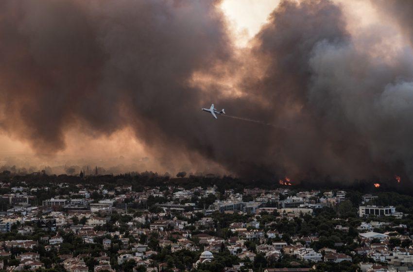Meteo: Έτσι εξαπλώθηκε η φωτιά στην Βαρυμπόμπη (vid)
