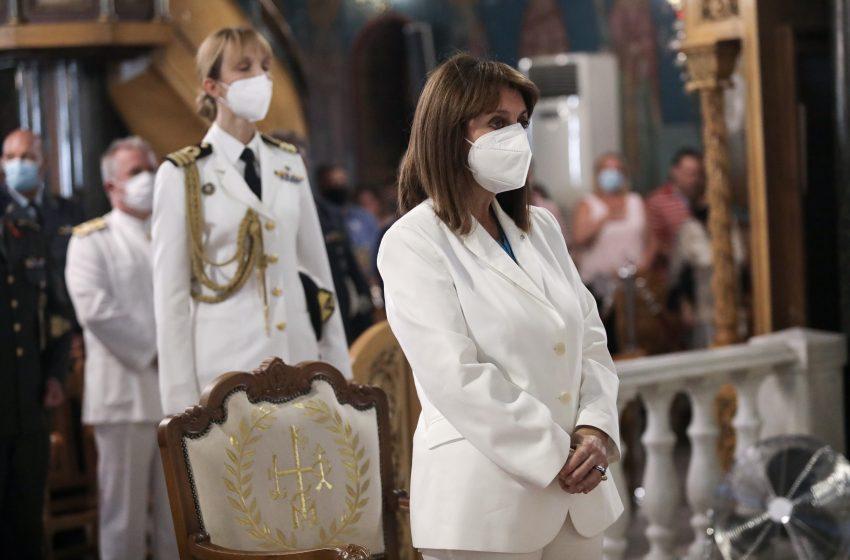 Σακελλαροπούλου: Μέσα στην τραγωδία που έπληξε τον τόπο, παράλληλα με την πανδημία, η σημερινή γιορτή αποκτά ιδιαίτερο βάρος