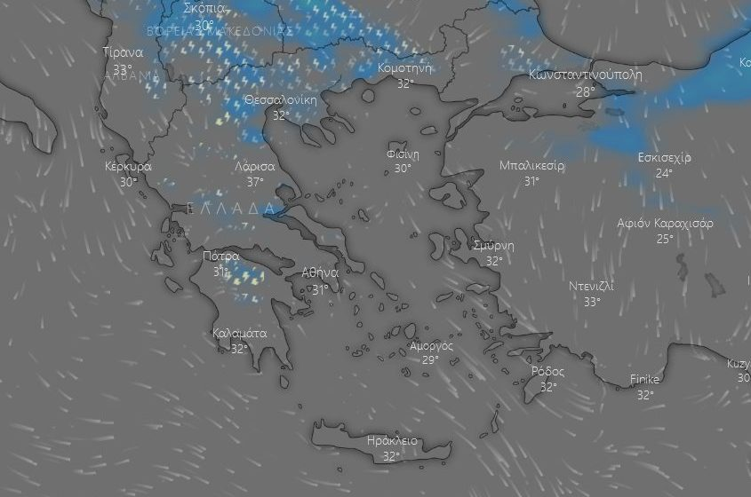 Έχει ο καιρός…γυρίσματα-Μετά τον καύσωνα… καταιγίδες-Δείτε live χάρτη με τις βροχοπτώσεις