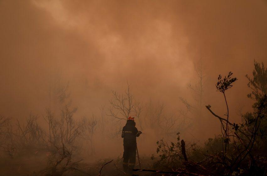Εύβοια: Μαίνεται η φωτιά- Με δεξαμενόπλοιο κουβαλούν νερό για τα πυροσβεστικά