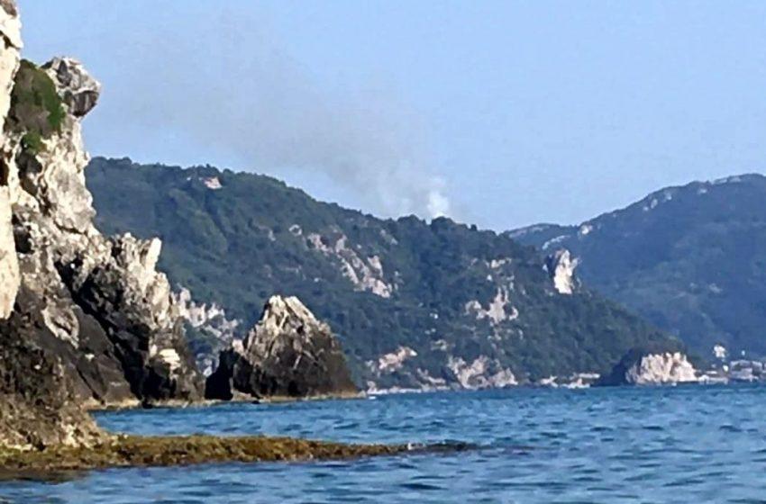 Πυρκαγιά  σε δασική έκταση στην περιοχή Σιναράδων Κέρκυρας