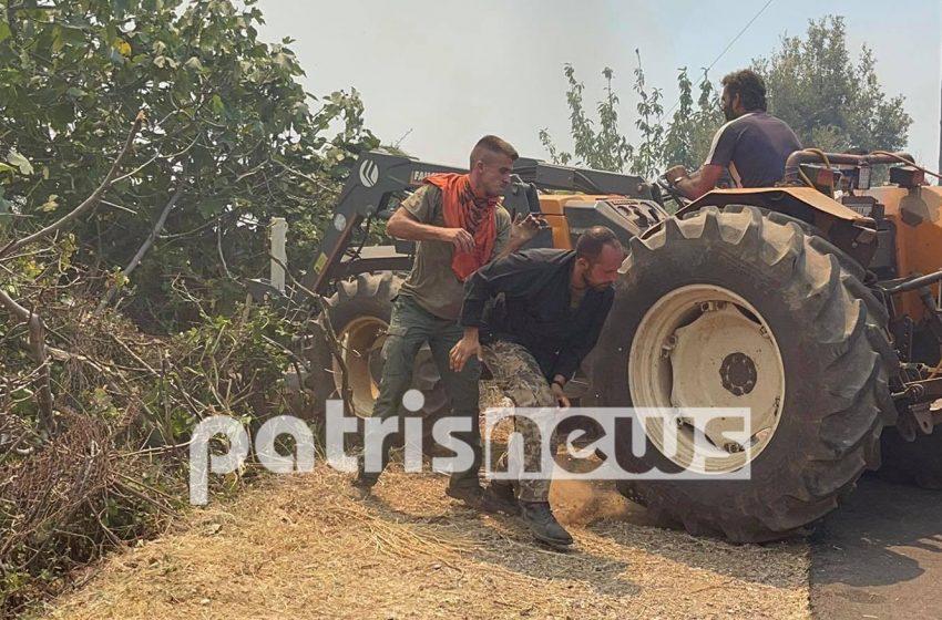 Η Νεμούτα έχει παραδοθεί στις φλόγες – Συγκλονιστικό βίντεο από την προσπάθεια διάσωσης του χωριού