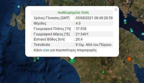 Σεισμός στον Πύργο