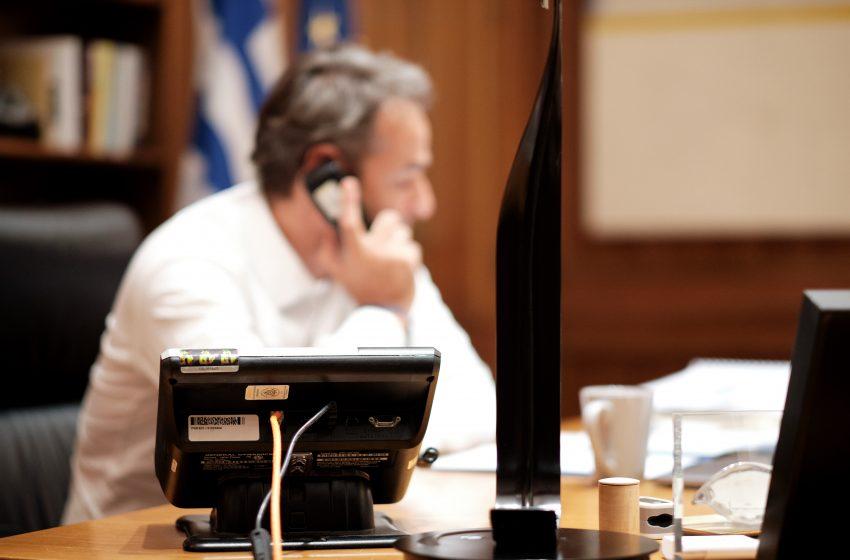 Τηλεφωνική επικοινωνία Μητσοτάκη με τον πρόεδρο του Ισραήλ