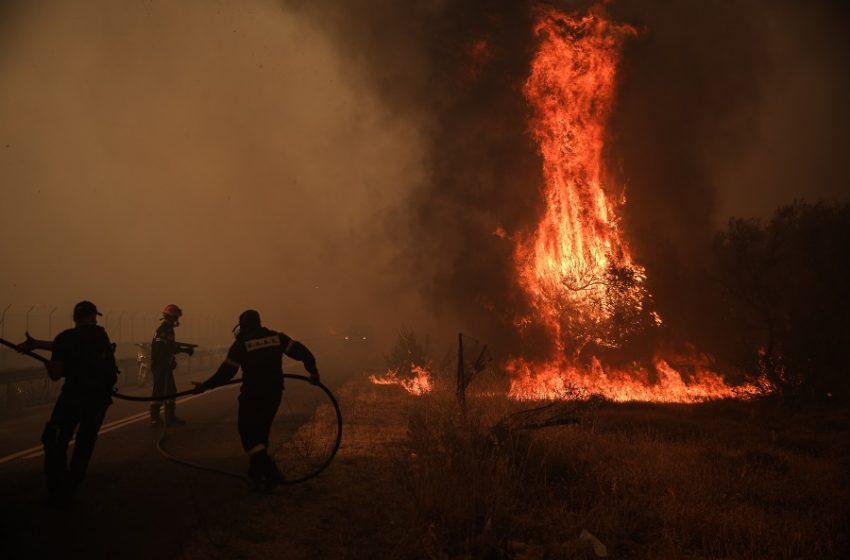 Νέο μήνυμα από το 112 για εκκένωση των περιοχών Αγιά Παρασκευή, Αγία Σκέπη, Καπιτένια, Βρυσάκι, Λόφος Κουρεμένου
