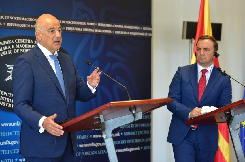 Δένδιας: Λάβαμε διευκρινίσεις από την Β. Μακεδονία για την αμυντική συμφωνία με την Τουρκία