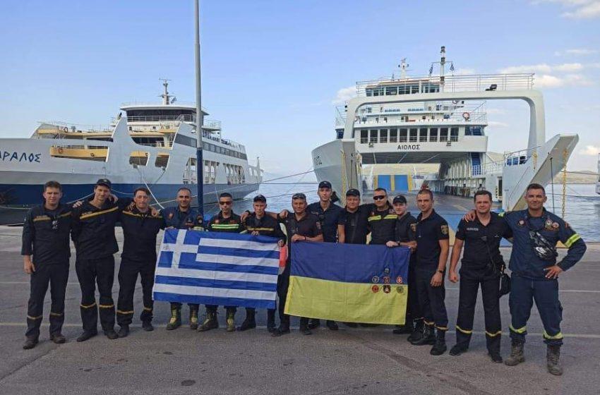 H Αβγαριά και η 7η ΕΜΑΚ αποχαιρέτησαν τους Ουκρανούς πυροσβέστες