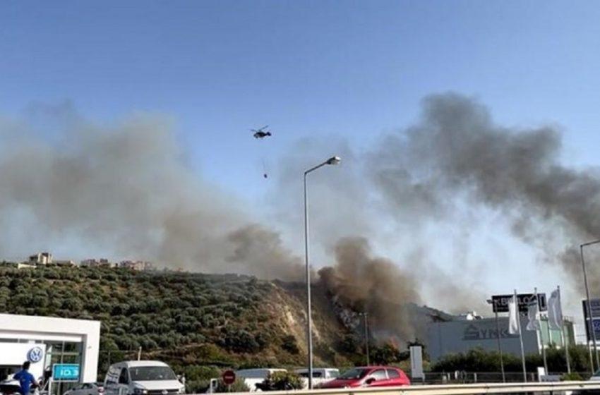 Κρήτη: Νέα φωτιά στις Γούρνες Ηρακλείου – Επιχειρούν επίγεια και εναέρια μέσα
