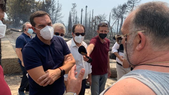 Στις πληγείσες περιοχές της Βόρειας Εύβοιας ο Αλέξης Τσίπρας (vid)