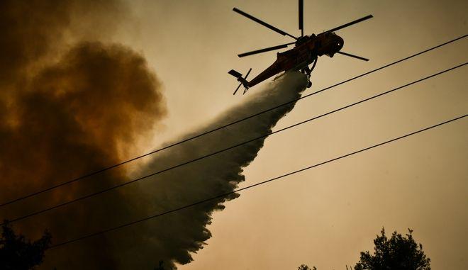 Οριοθετήθηκε η φωτιά στην Κάρυστο- Επιφυλακή για αναζωπυρώσεις