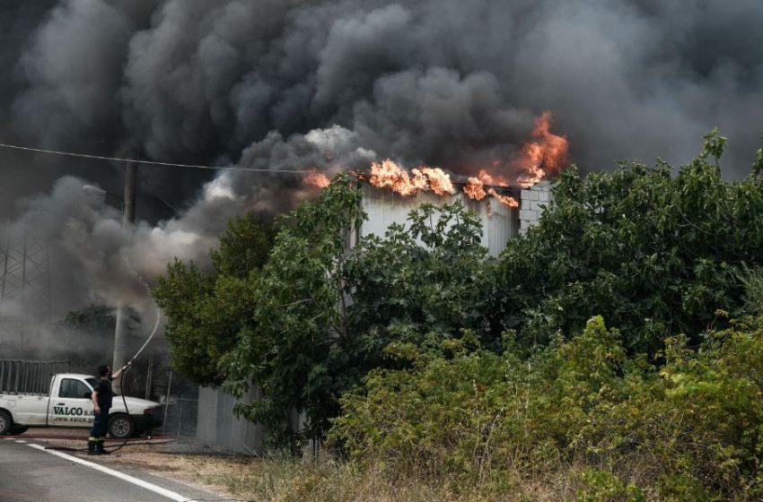 Καίγονται σπίτια στο Κρυονέρι
