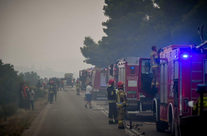 Εύβοια: Νέα φωτιά στην Κάρυστο