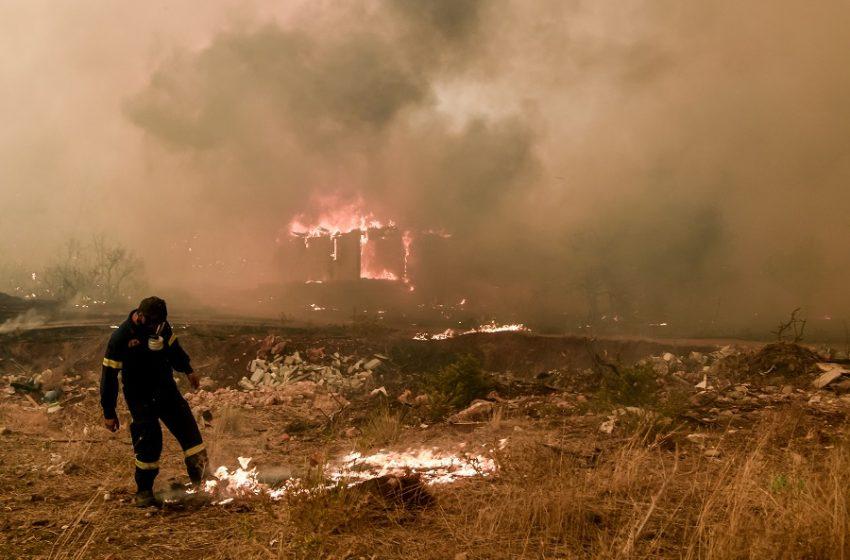 Μήνυμα στο 112 για πυρκαγιά