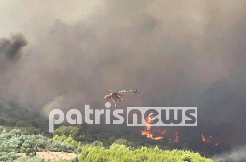 Φωτιά στην Αρχαία Ολυμπία: Εντολή εκκένωσης – Πληροφορίες για εγκλωβισμένους