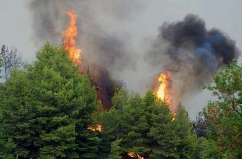 Μεσολόγγι: Σε εξέλιξη πυρκαγιά στην περιοχή Άγιος Συμεών