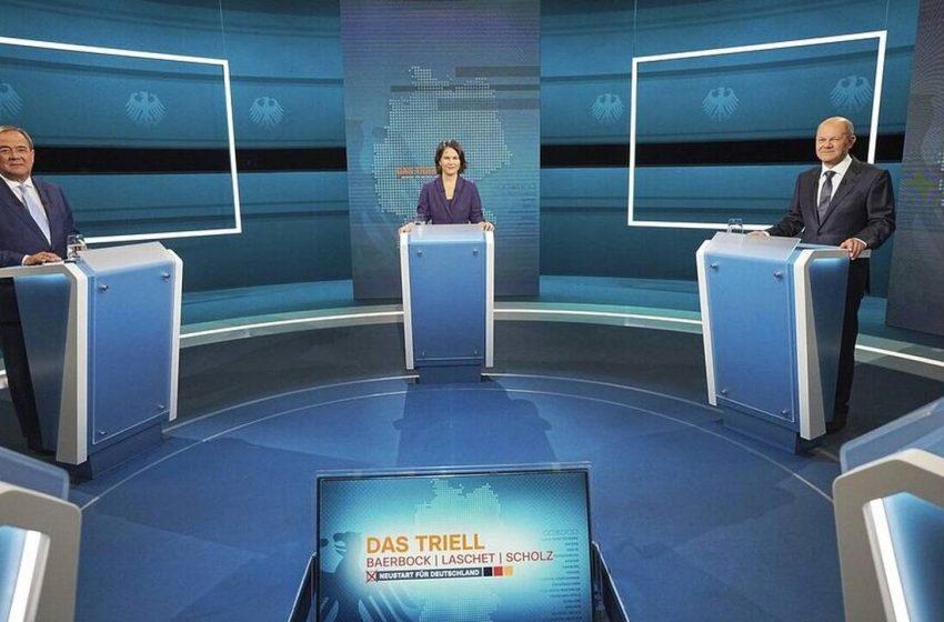 """Γερμανία – Εκλογές: """"Νικητής"""" ο Όλαφ Σολτς στην πρώτη τηλεμαχία με Λάσετ και Μπέρμποκ"""