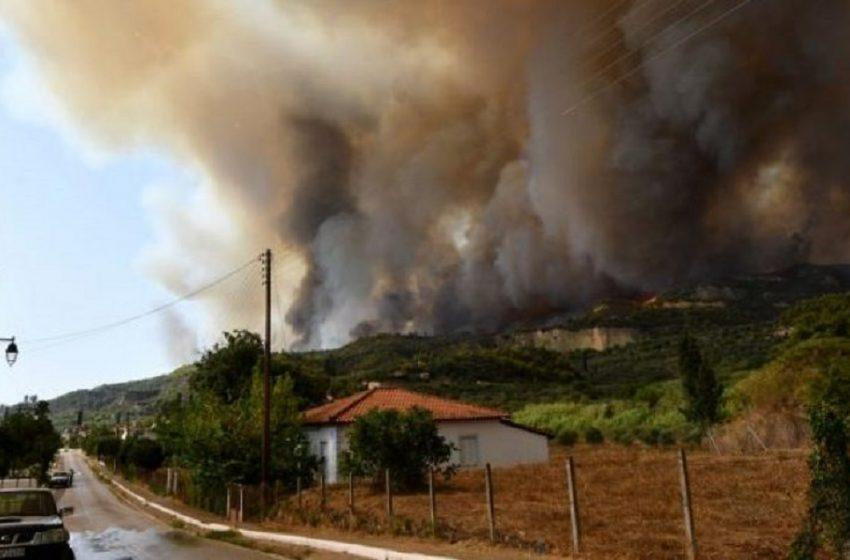 Ηλεία-Πυρκαγιά: Μάχη για να μην φτάσει στον αρχαιολογικό χώρο της Αρχαίας Ολυμπίας