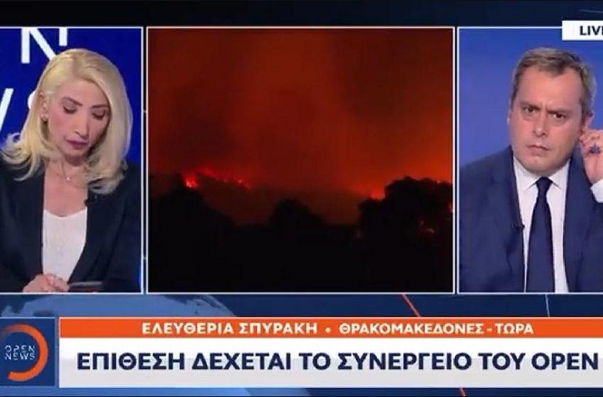 """Η ώρα της επίθεσης στο συνεργείο του Open στους Θρακομακεδόνες – """"Οι αστυνομικοί κοιτούσαν""""- Σάλος στα social media"""