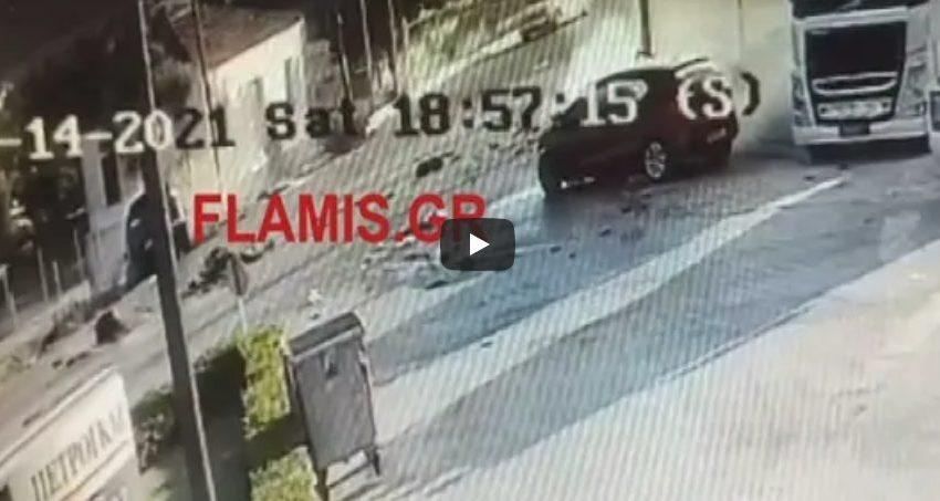Σοκαριστικό βίντεο από τη μετωπική σύγκρουση στην Πάτρα (vid)