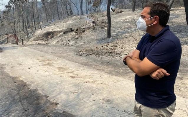 Τσίπρας: Το σχέδιο του επιτελικού κράτους εφαρμόζεται απρόσκοπτα: Η φωτιά θα σταματήσει στη θάλασσα