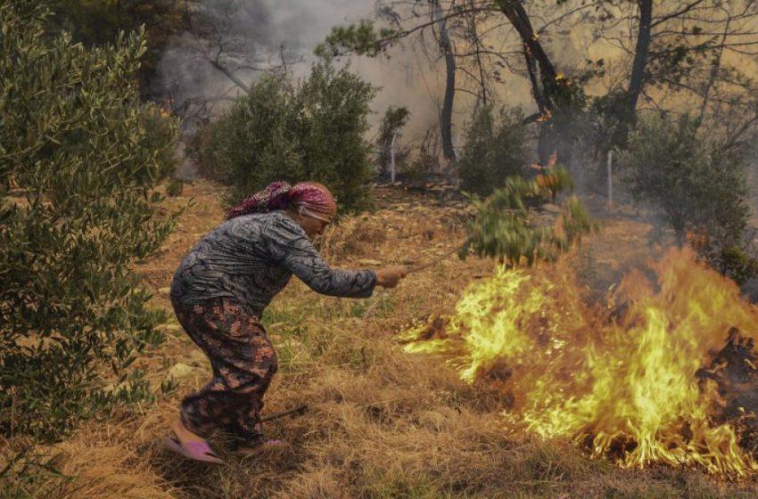 Τουρκία: Αναζωπυρώθηκε η φωτιά -Απειλεί θερμοηλεκτρικό σταθμό στο Μίλας