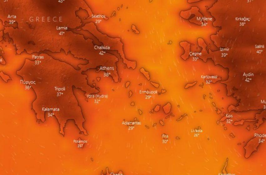 Πανευρωπαϊκό ρεκόρ θερμοκρασίας κατέγραψε η Ελλάδα με 46,3 βαθμούς – LIVE η πορεία του καύσωνα