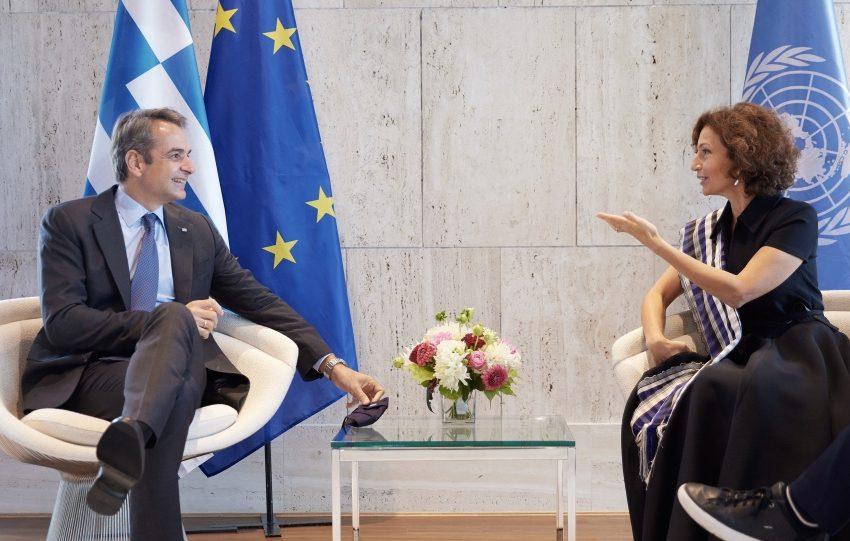 Συνάντηση Μητσοτάκη με Γενική Διευθύντρια της UNESCO: Συζήτησαν για Αγία Σοφία και Μονή της Χώρας