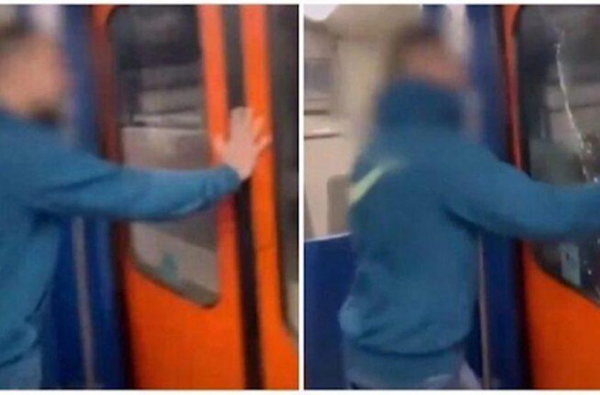 Σπάει με το κεφάλι του τζάμι σε τρένο του ΗΣΑΠ για το TikTok (vid)