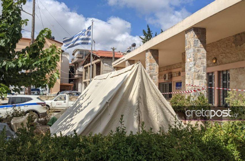 Ηράκλειο: Η σκηνή έγινε… Αστυνομικό Τμήμα λόγω του σεισμού