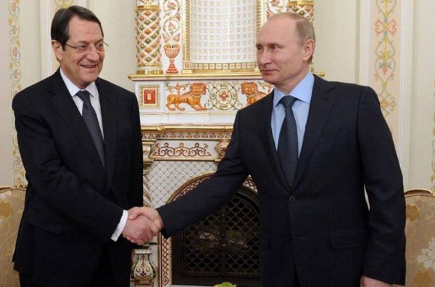 Επιστολή Πούτιν στον Αναστασιάδη: Η Ρωσία στηρίζει τις προσπάθειες για την επίτευξη μιας βιώσιμης λύσης στο Κυπριακό