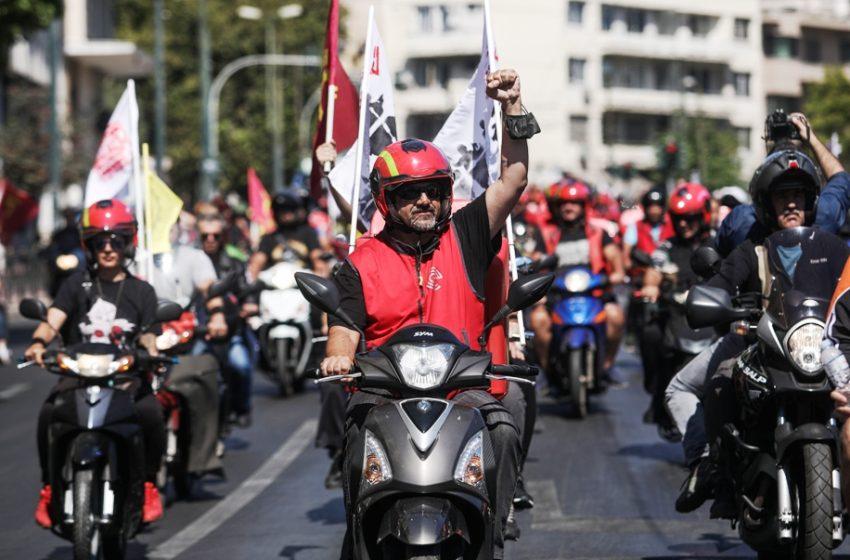 Efood: Νέα μεγάλη μοτοπορεία στο κέντρο της Αθήνας – Τα αιτήματά τους