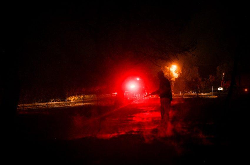 Ν. Μάκρη: Ολονύχτια μάχη με τις φλόγες, βελτιωμένο το μέτωπο – Ενδείξεις εμπρησμού (vid)