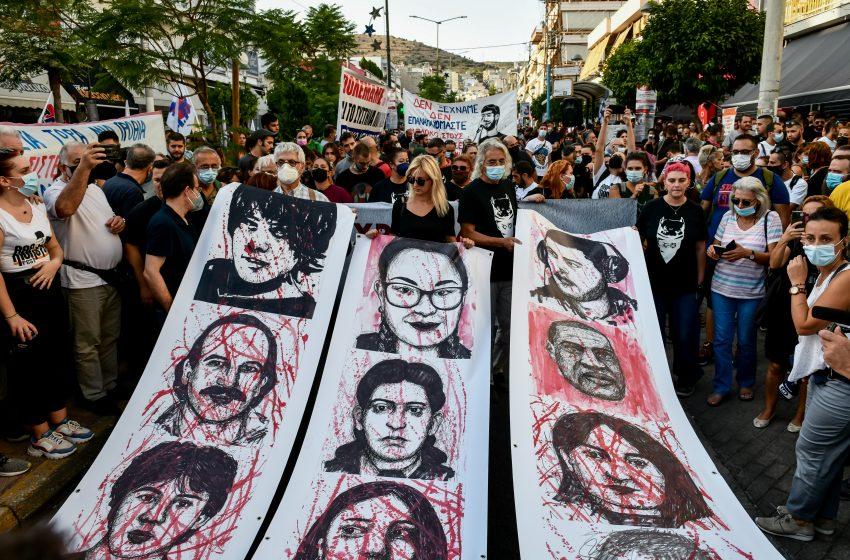 Ξεκίνησε η αντιφασιστική πορεία στο Κερατσίνι