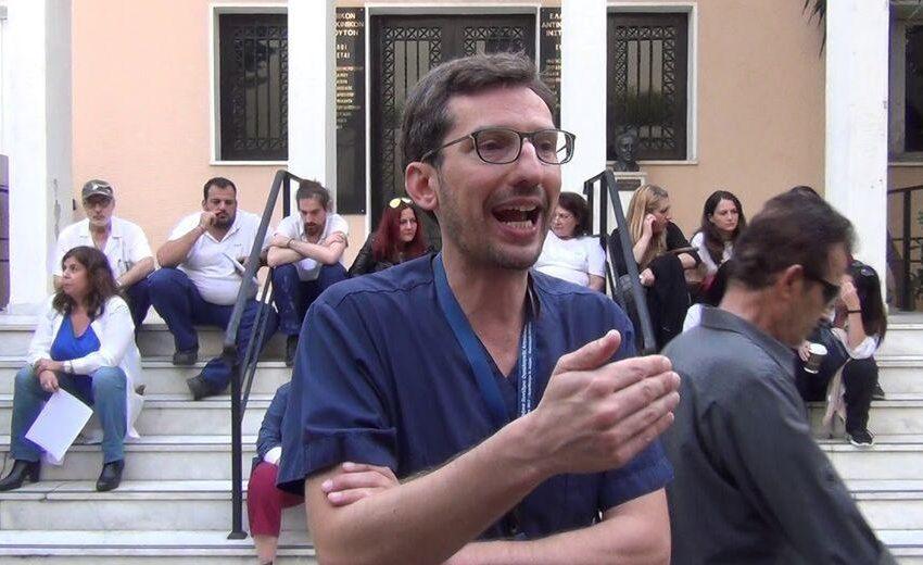 Σε αναστολή ο γιατρός και συνδικαλιστής Κώστας Καταραχιάς αν και εμβολιασμένος