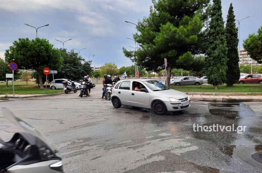 Μηχανοκίνητη πορεία στη Θεσσαλονίκη κατά του υποχρεωτικού εμβολιασμού